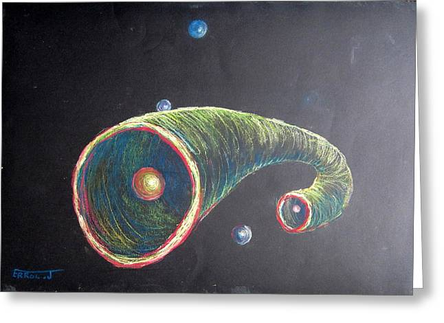 Outer Space Pastels Greeting Cards - Birth of Blanets Greeting Card by Errol  Jameson