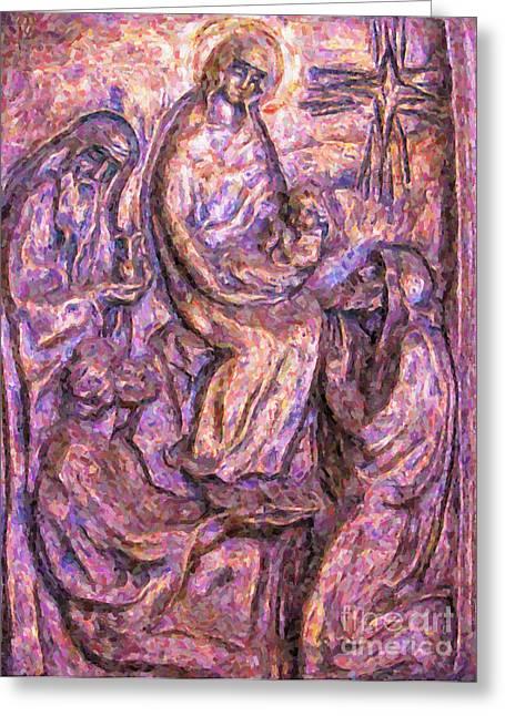 Jesus work Digital Greeting Cards - Birth Of Christ Greeting Card by Antony McAulay
