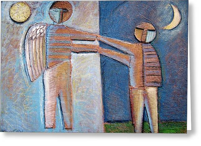 And Sand-mix Greeting Cards - Birth Of Man Greeting Card by Gerry High