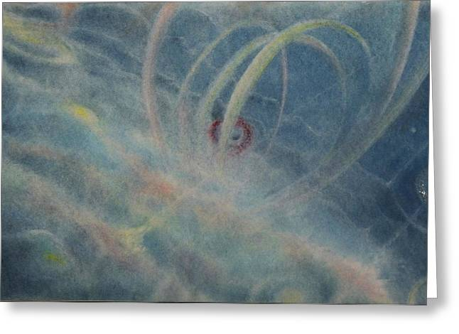 Mystical Landscape Pastels Greeting Cards - Birth of the Arc Greeting Card by Joel Rudin