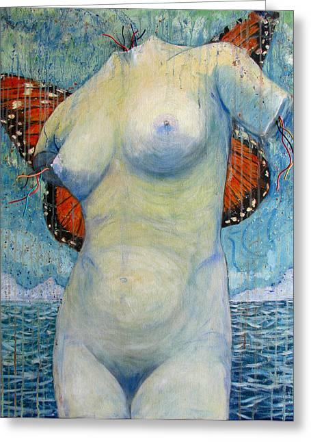 Aphrodite Of Milos Greeting Cards - Birth of the Beta Monarch Greeting Card by Jonathan E Raddatz