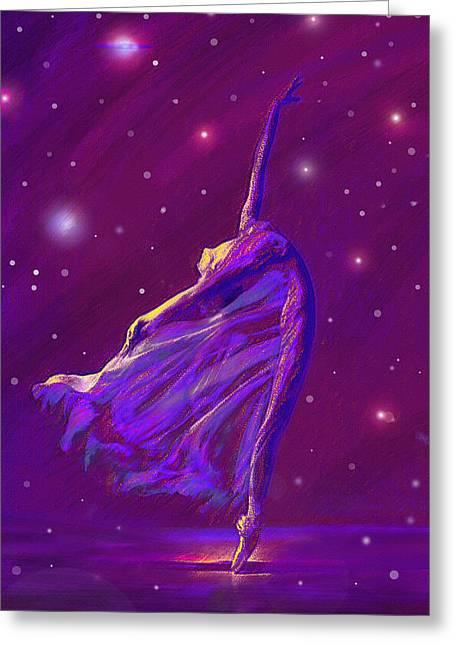 Cosmos Digital Art Greeting Cards - Birth Of The Cosmos Greeting Card by Jane Schnetlage