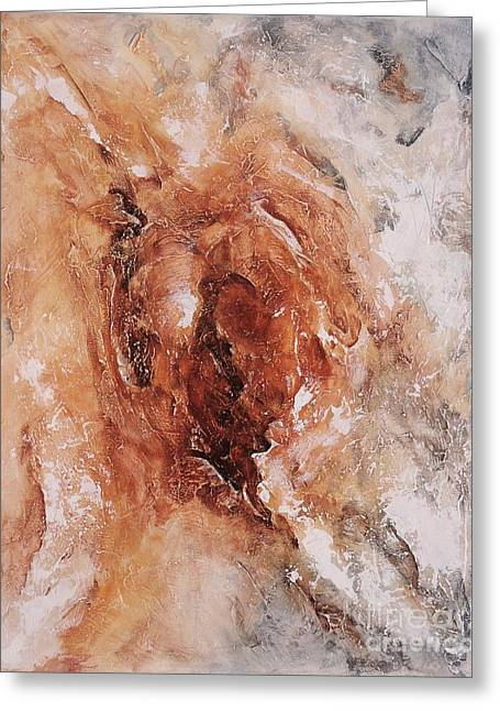 Grungy Paintings Greeting Cards - Birth of the Earth 01 Greeting Card by Emerico Imre Toth