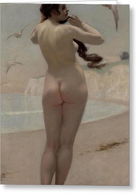 Birth Of Venus Greeting Card by Kenyon Cox