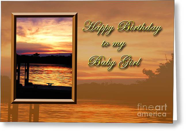Wildlife Celebration Greeting Cards - Birthday Baby Girl Pier Greeting Card by Jeanette K