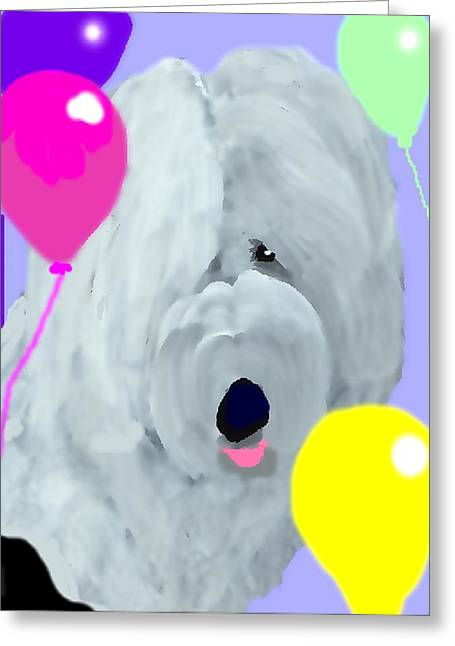 Oes Greeting Cards - Birthday Balloons Greeting Card by Cathy Howard