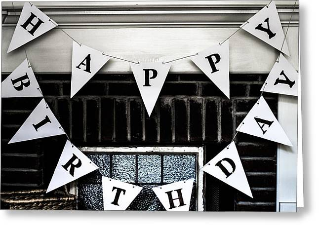 Party Birthday Party Greeting Cards - Birthday Banner Card Greeting Card by Shelby  Young