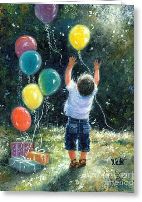 Vickie Wade Paintings Greeting Cards - Birthday Boy Greeting Card by Vickie Wade