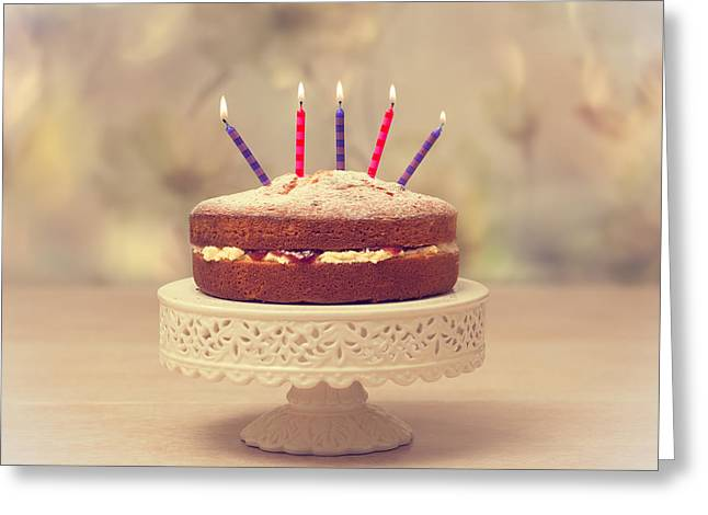 Victoria Photographs Greeting Cards - Birthday Cake Greeting Card by Amanda And Christopher Elwell