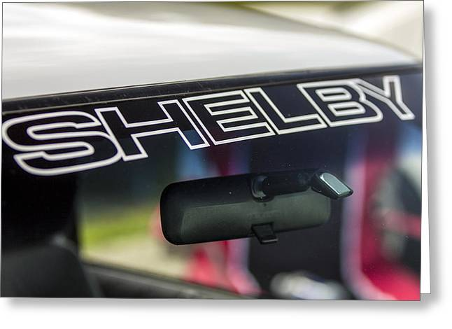Carol Shelby Greeting Cards - Birthday Car - Shelby Windshield Greeting Card by Josh Bryant