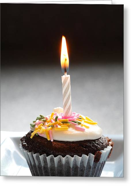 Norman Pogson Greeting Cards - Birthday Cup Cake Greeting Card by Norman Pogson