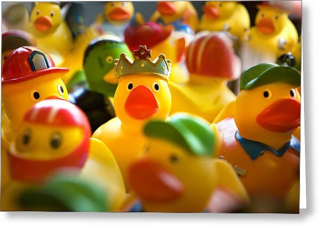 Flocks Of Ducks Greeting Cards - Birthday Ducks Greeting Card by Marilyn Hunt