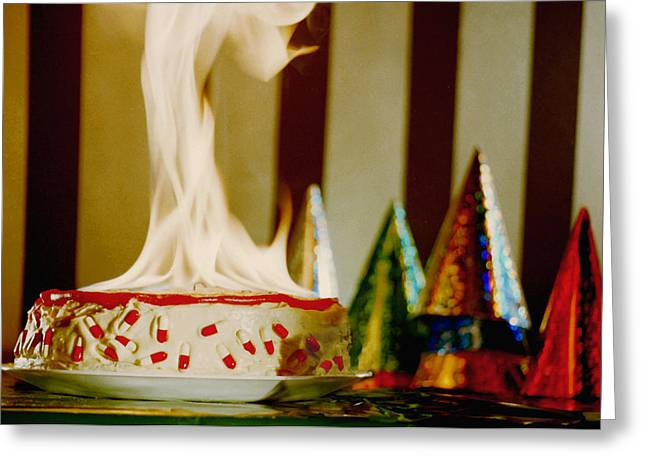 Party Hat Prints Greeting Cards - Birthday Headache Greeting Card by Gabe Arroyo