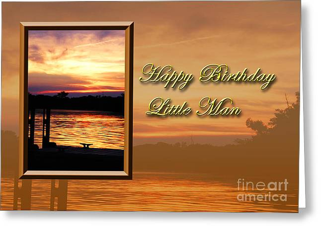 Wildlife Celebration Greeting Cards - Birthday Little Man Pier Greeting Card by Jeanette K