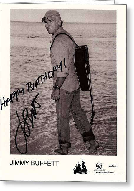 Birthday Wishes From Jimmy Buffett Greeting Card by Desiderata Gallery