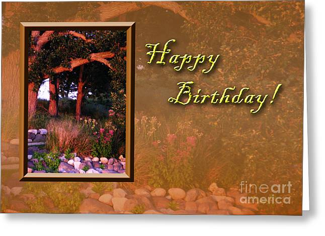 Wildlife Celebration Greeting Cards - Birthday Woods Greeting Card by Jeanette K