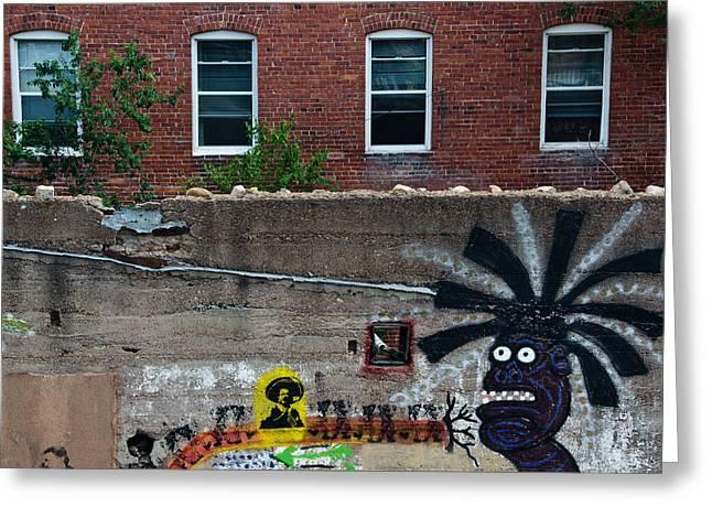 Kachina Greeting Cards - Bisbee Arizona Graffiti Greeting Card by Dave Dilli