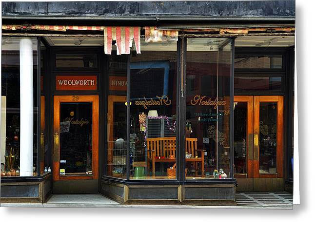 Store Fronts Greeting Cards - Bisbee Arizona Store Front Greeting Card by Dave Dilli