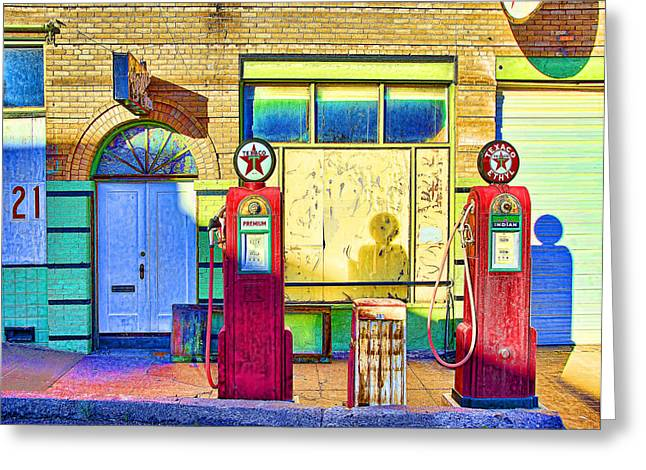 Bisbee Greeting Cards - Bisbee Filler Up Greeting Card by David Neely