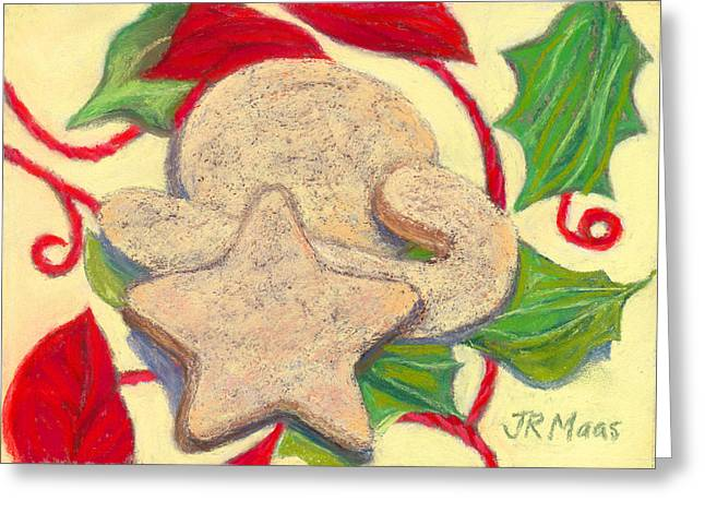 Napkin Pastels Greeting Cards - Biscochitos-NM State Cookie Greeting Card by Julie Maas