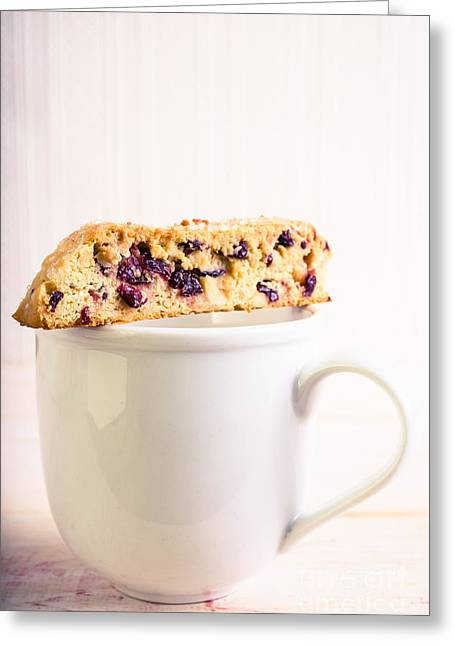 Biscotti Greeting Cards - Biscotti and Coffee Greeting Card by Edward Fielding