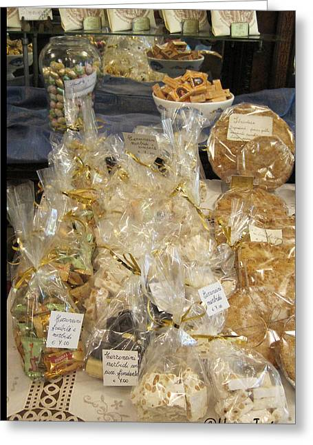Plate Of Cookies Greeting Cards - Biscotti and Torrone Greeting Card by Henry Tosi