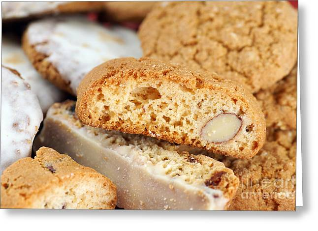 Biscotti Greeting Cards - Biscotti background Greeting Card by Sylvie Bouchard