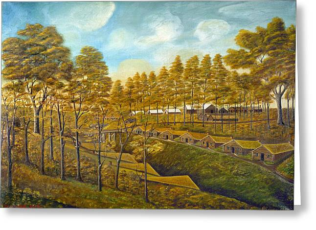 Bishop Hill Colony Greeting Card by Granger