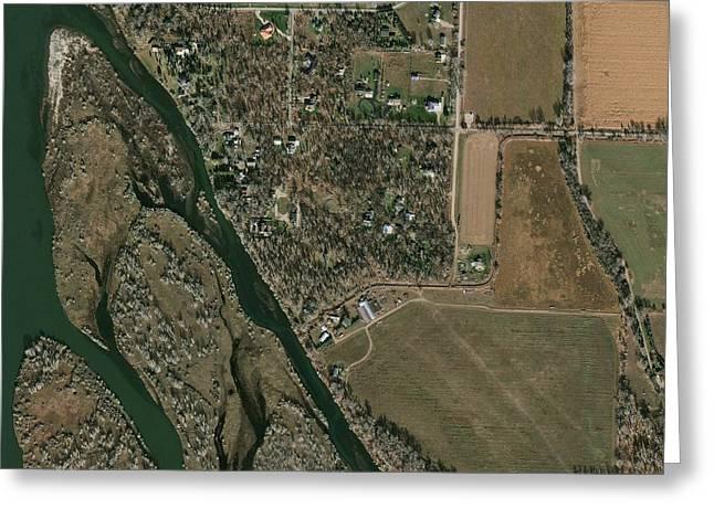 Satellite Image Greeting Cards - Bismarck, USA, satellite image Greeting Card by Science Photo Library