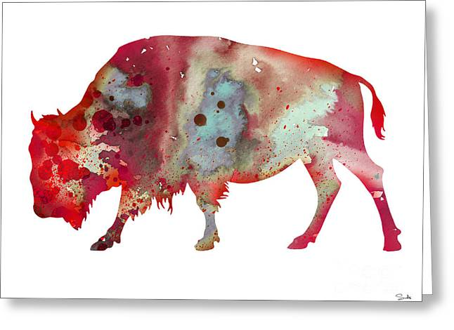 Buffalo Greeting Cards - Bison Greeting Card by Luke and Slavi
