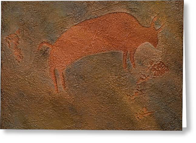 Buffalo Reliefs Greeting Cards - All Good Things Greeting Card by Katie Fitzgerald