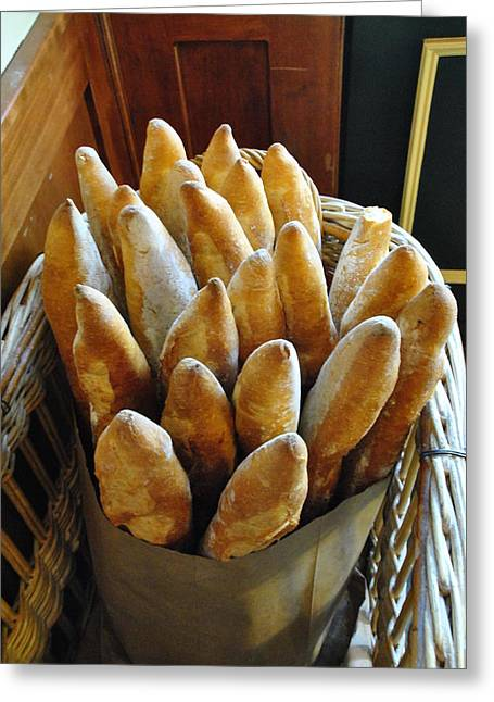 Loaf Of Bread Digital Greeting Cards - BISTRO and BAKERY Loaves of Fresh Bread Greeting Card by ARTography by Pamela  Smale Williams