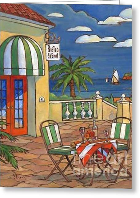 Bistro Paintings Greeting Cards - Bistro St. Emil Greeting Card by Paul Brent