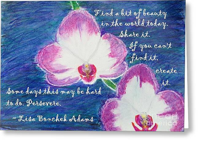 Orchid Greeting Cards - Bit Of Beauty For Lisa Greeting Card by Denise Railey