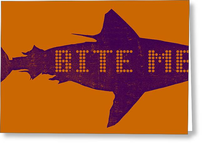 Aquatic Mixed Media Greeting Cards - Bite Me Greeting Card by Michelle Calkins