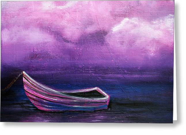 Boat Cruise Greeting Cards - Bitter Berry Sea Greeting Card by Laura Barbosa