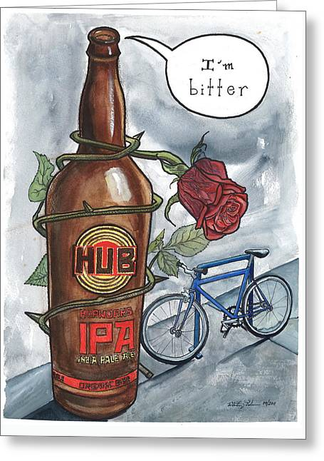 Bitter Flavors Greeting Card by Whitney Palmer