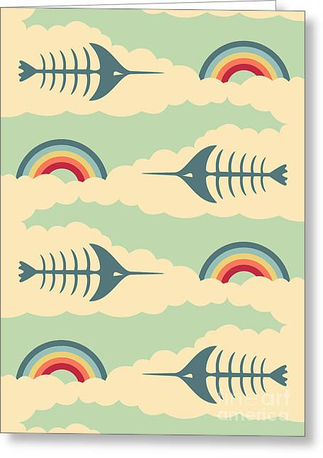 Swordfish Digital Art Greeting Cards - Bittersweet Pattern Greeting Card by Freshinkstain