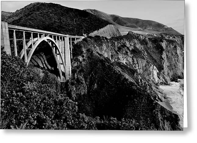 Bixby Black and White Greeting Card by Benjamin Yeager