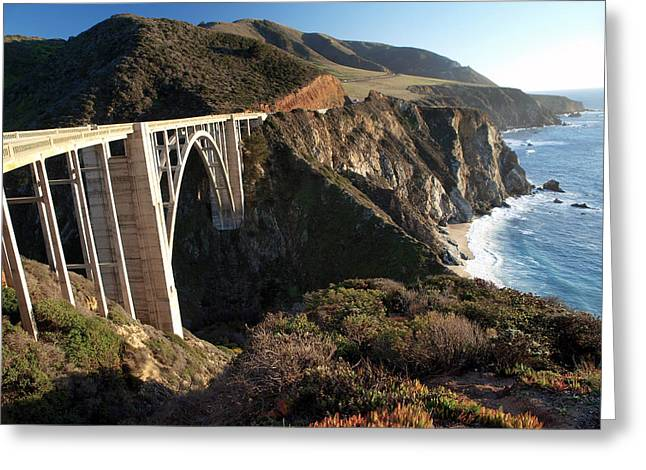 Joe Schofield Greeting Cards - Bixby Bridge Afternoon Greeting Card by Joe Schofield
