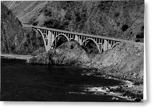 Bixby Bridge Greeting Cards - Bixby Bridge At Big Sur Greeting Card by Eric Tressler