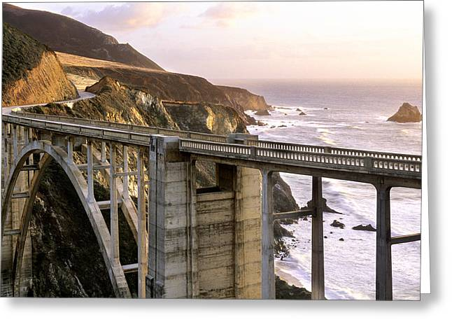 Big Sir California Greeting Cards - Bixby Bridge Big Sir Greeting Card by Dan Peak
