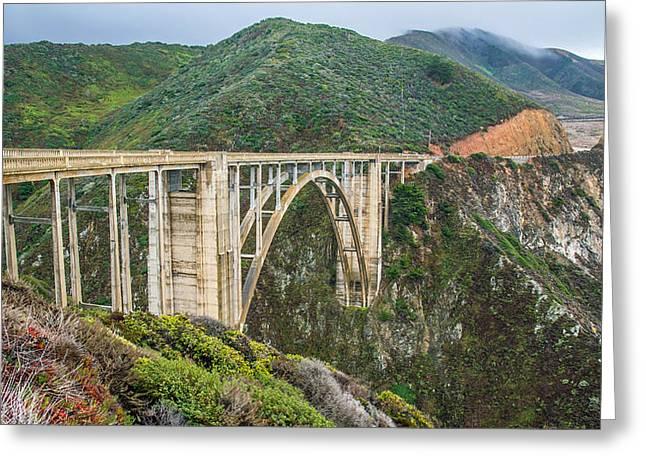 Bixby Bridge Greeting Cards - Bixby Bridge Big Sur Greeting Card by Pierre Leclerc Photography