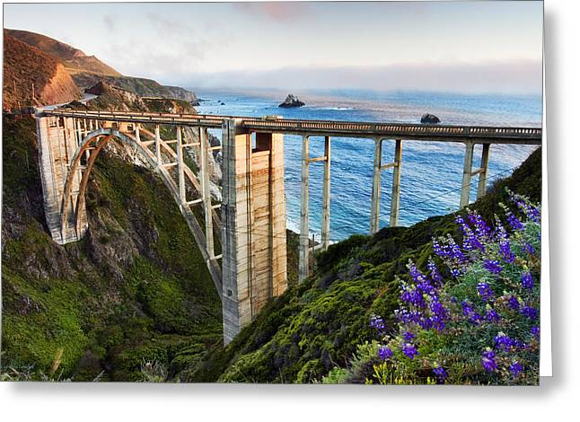 Bixby Bridge Greeting Card by Cynthia Leeder