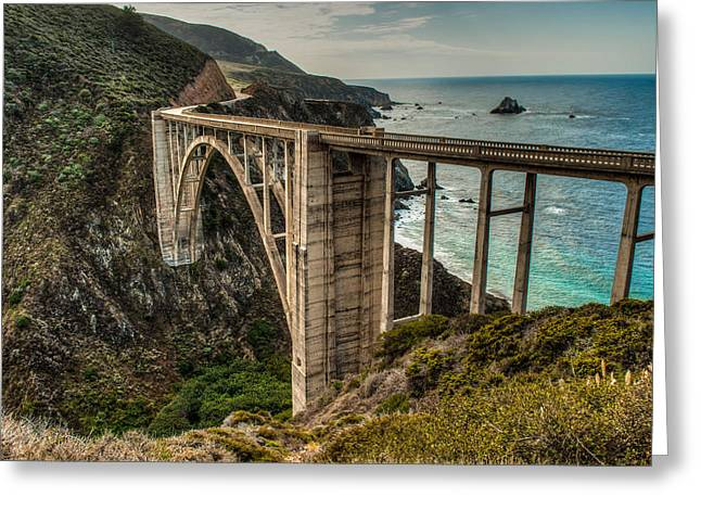 Bixby Bridge Greeting Cards - Bixby Bridge Greeting Card by George Buxbaum