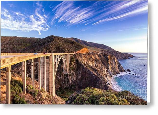 Coast Hwy Ca Greeting Cards - Bixby Bridge Greeting Card by Jerry Fornarotto