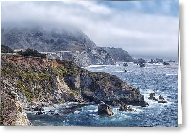 Scenic Drive Greeting Cards - Bixby Bridge - Large Print Greeting Card by Anthony Citro