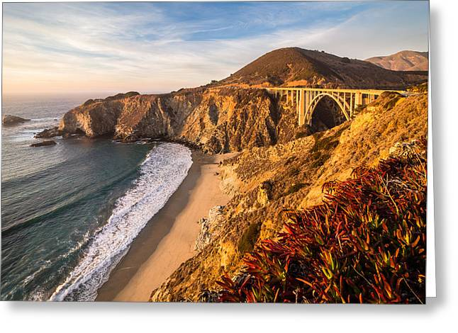 Bixby Bridge Greeting Card by Michael Flaherty