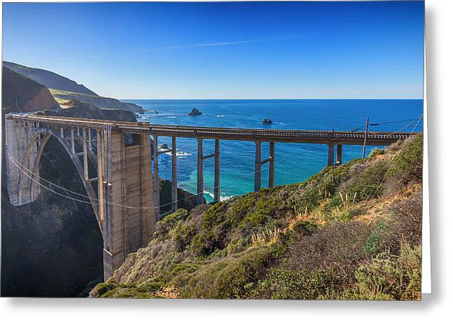 Bixby Bridge Greeting Cards - Bixby Bridge Greeting Card by Nadim Baki