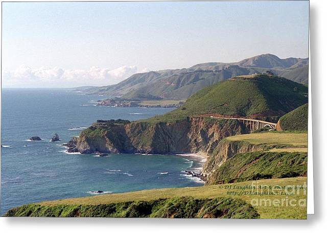 Bixby Bridge Greeting Cards - Bixby Bridge North Greeting Card by DJ Laughlin